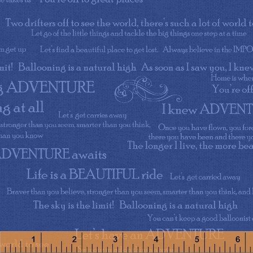 Adventure Awaits Words on Blue