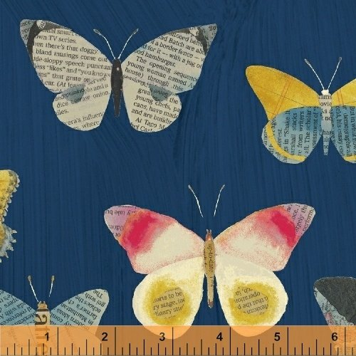 Wonder Newspaper Butterfly Navy