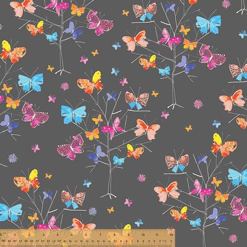 Kaleidoscope Charcoal Butterfly Tree