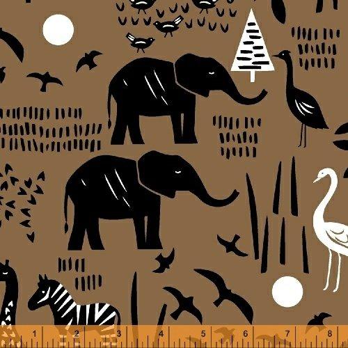 Paper Art Safari Scene in Sienna