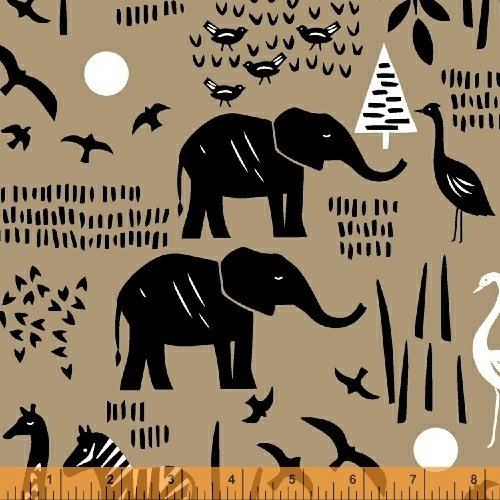 Paper Art Safari Scene in Linen