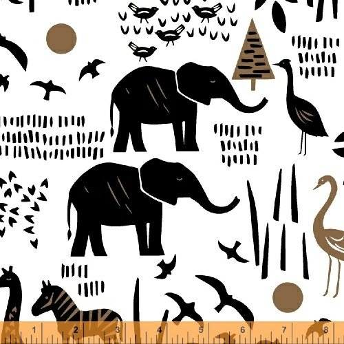 Paper Art Safari Scene in White