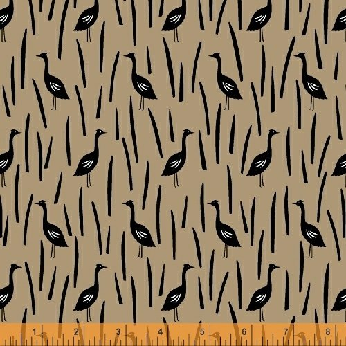 Paper Art Safari Cranes in Field in Linen