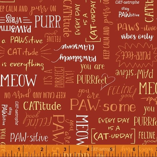 Purrfect Day - Words on Red