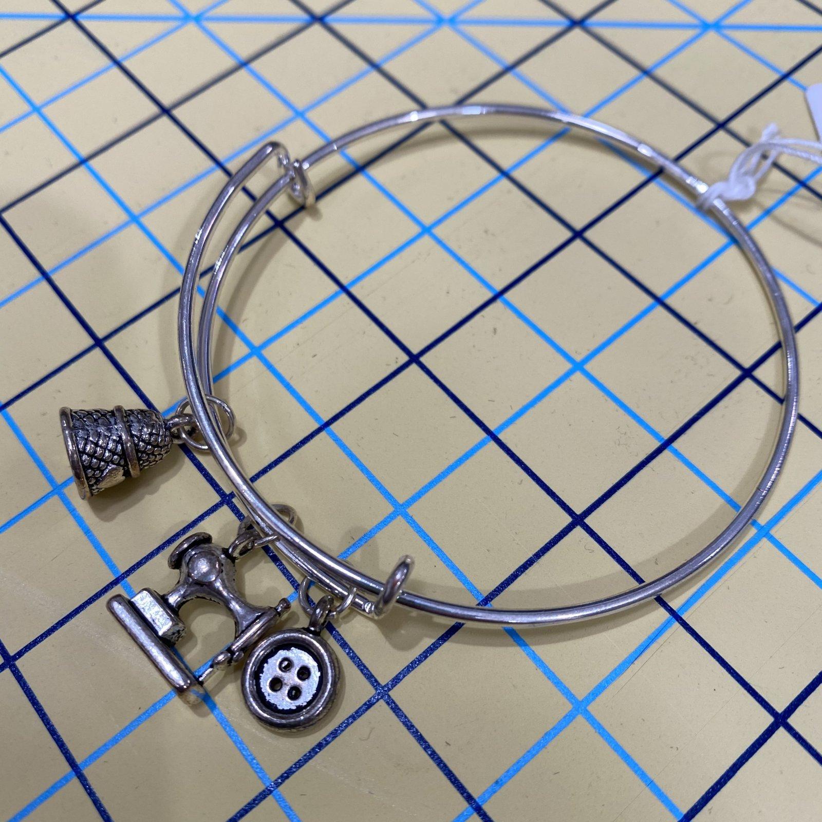 Adjustable Sewing Charm Bracelet