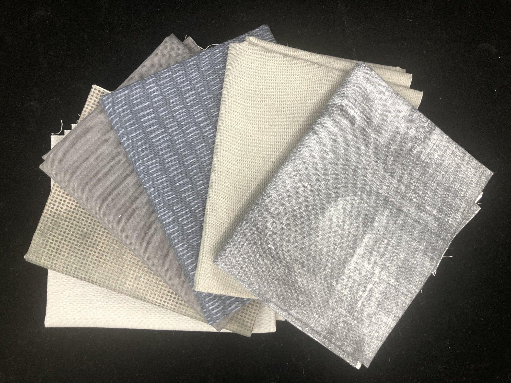 Bundle of 6 FQs - grays