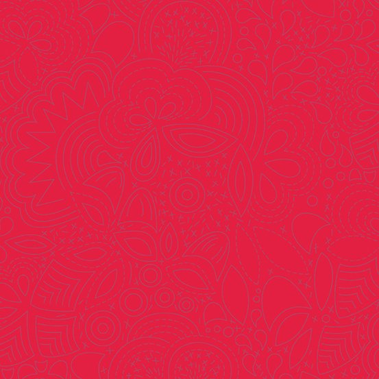 Sun Print 2020 by Alison Glass - Stitched: Poppy