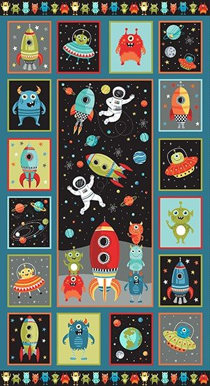 Outer Space by Makower UK Panel