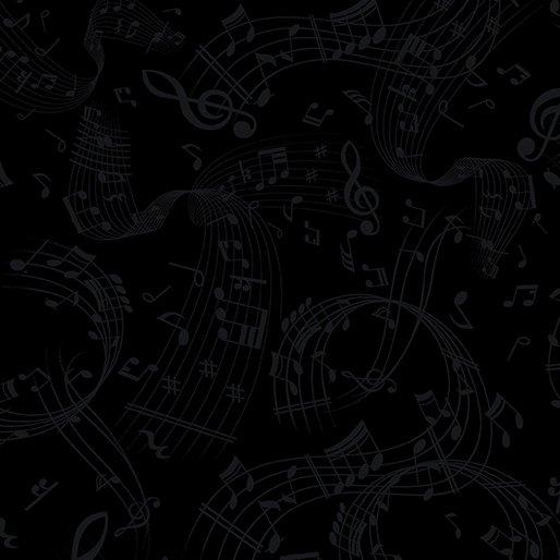 Swirling Music Black