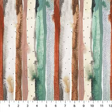 Desert Wilderness Watercolor Stripes