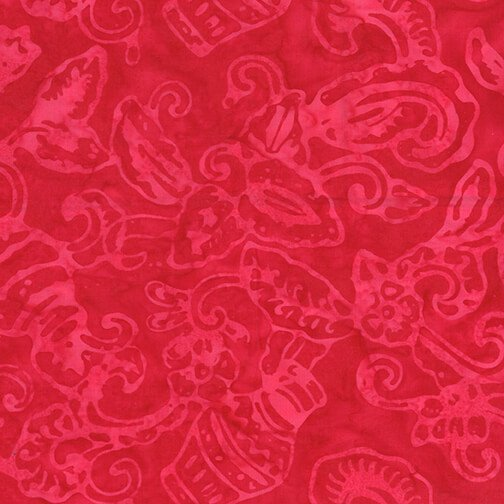 Bali Batik - Red Petal Play
