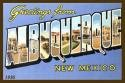 Albuquerque Large Letter Fabric Postcard 4x6