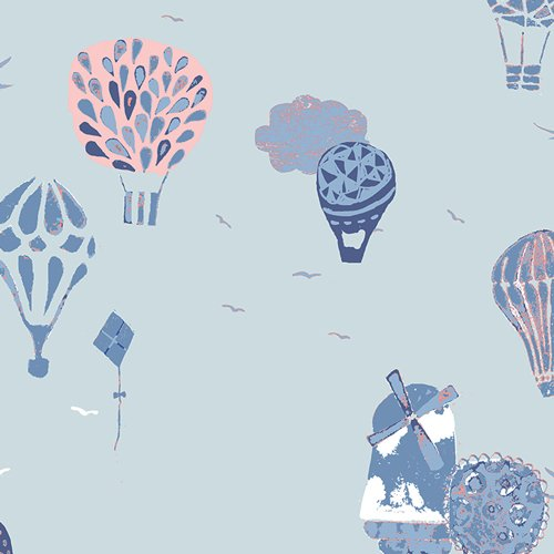 Fly Away Laat In Blue Hot Air Balloons