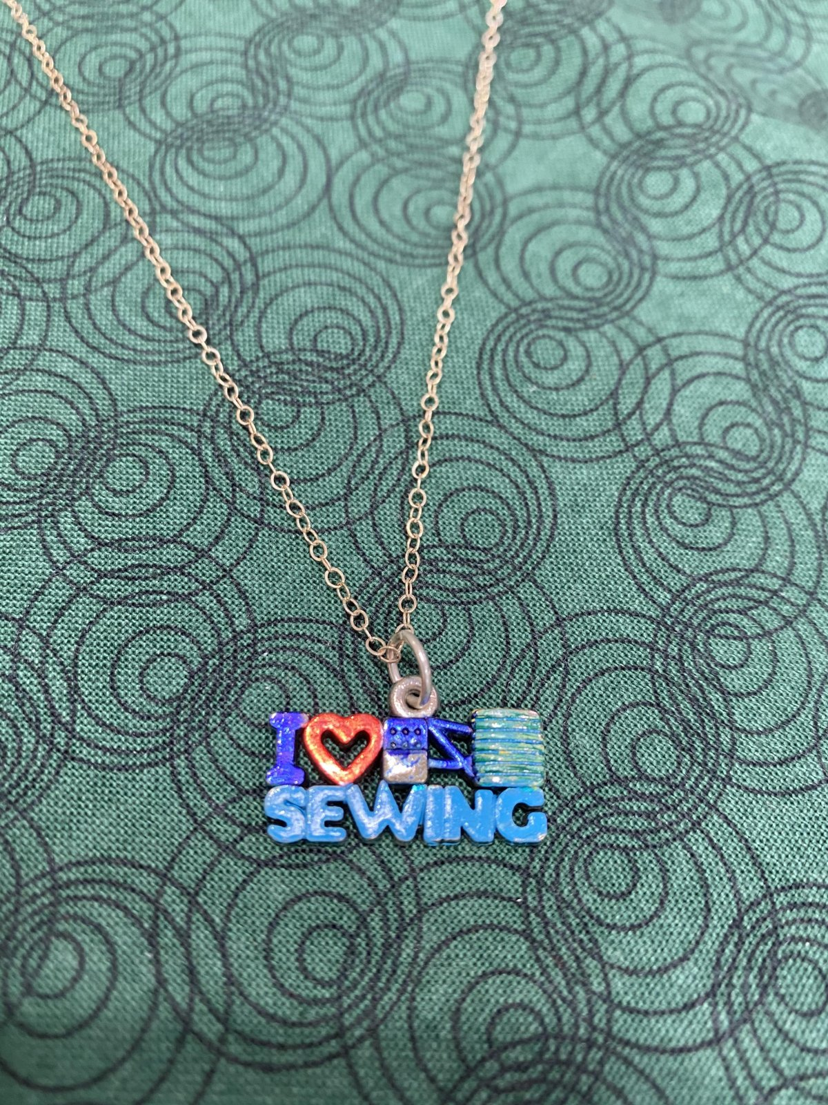 I Heart Sewing Delicate Necklace