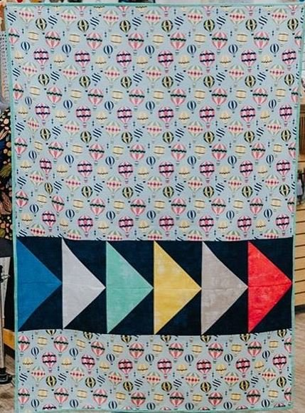 Baby Goose Quilt Kit: Hot Air Balloons