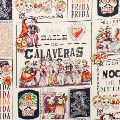 Baile De Calaveras Frida Kahlo - Tea Eggplant