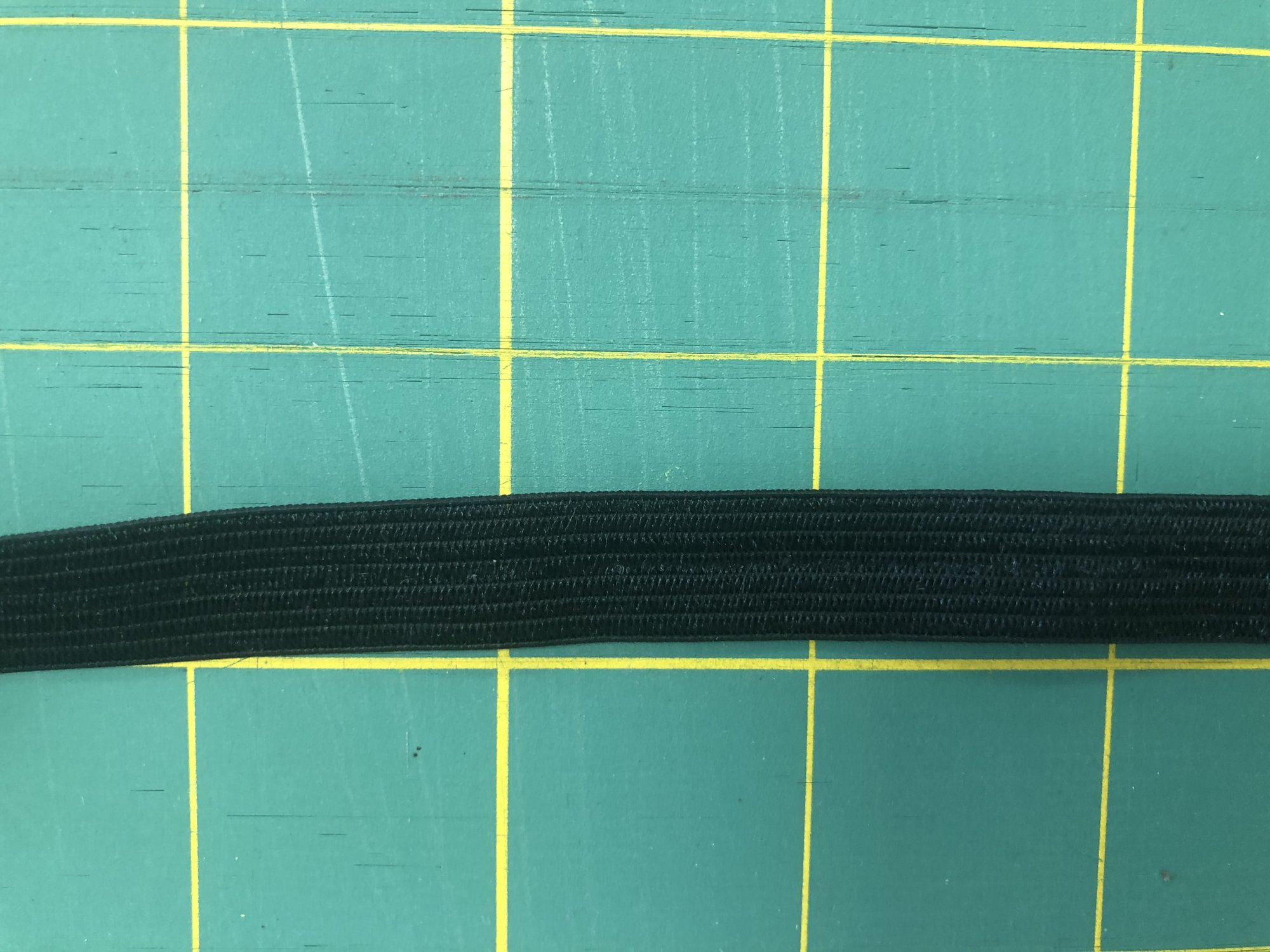 Black Ribbon Elastic Trim, 1/2 wide