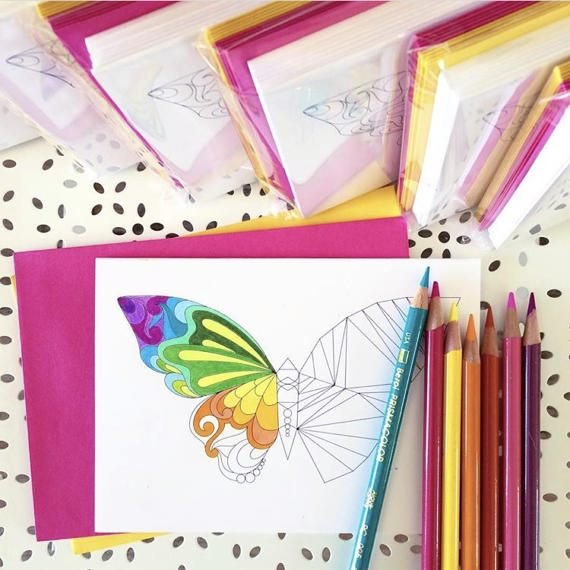 Sariella Butterfly Notecards set of 10
