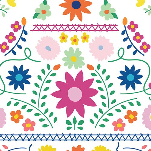 Mexican Dress Morning in Canvas