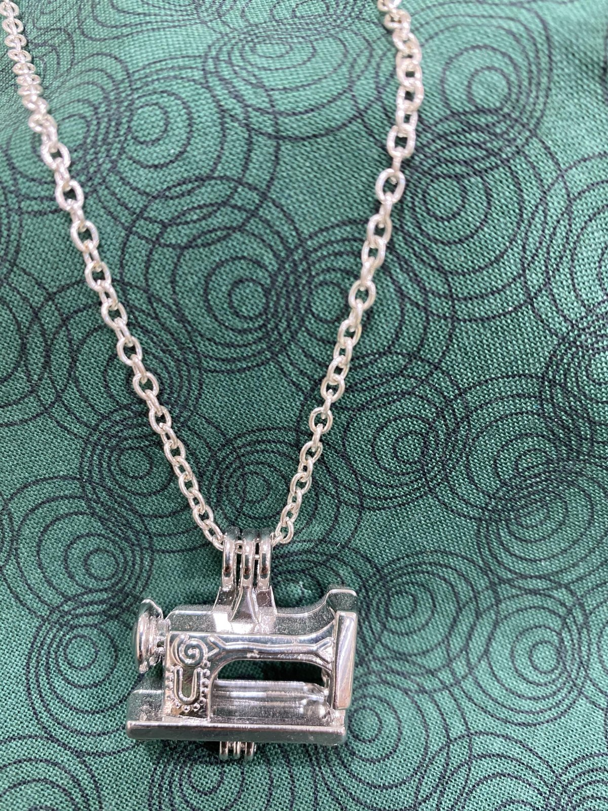 Hinged Sewing Machine Necklace