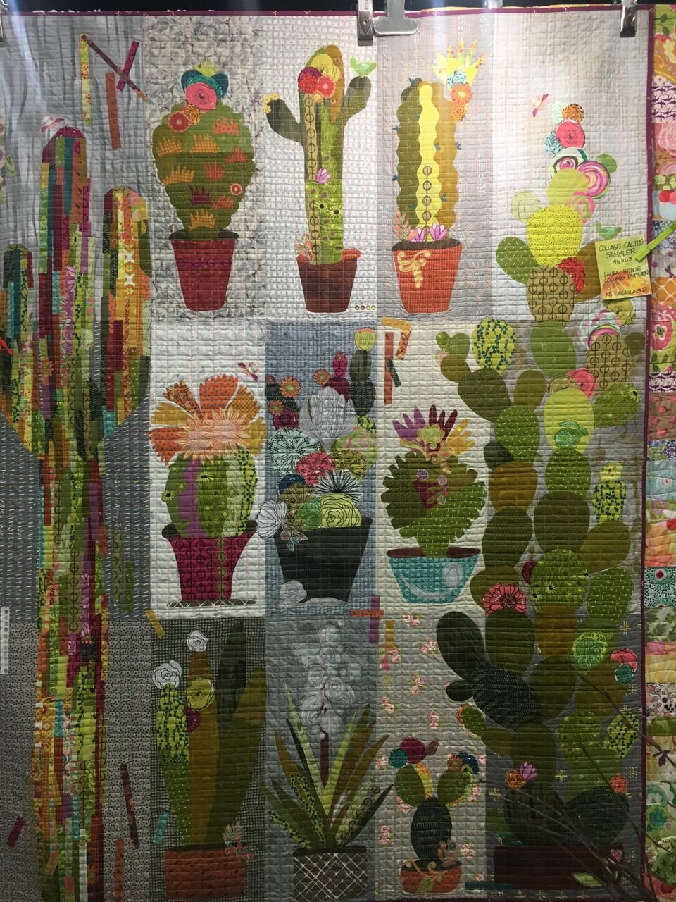 Collage Cactus Quilt Kit