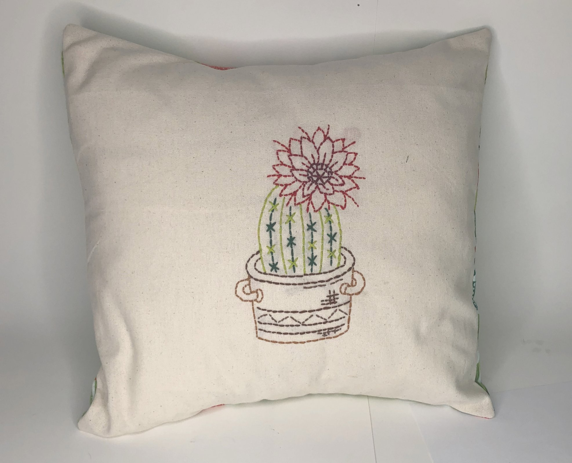 Cactus in Pot Embroidery Kit