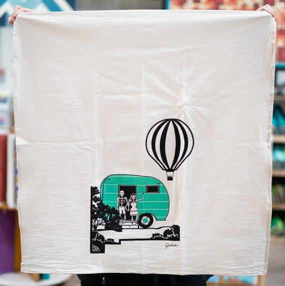 Muertos Balloon Flour Sack Towel
