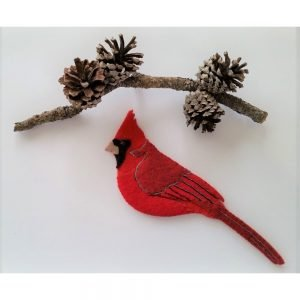 Cardinal Wool Felt Applique Kit