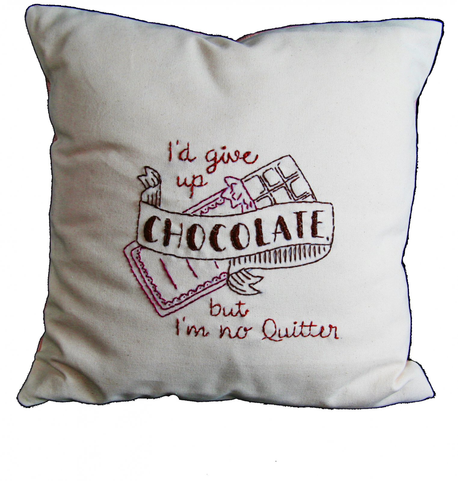 Give up Chocolate Embroidery Kit