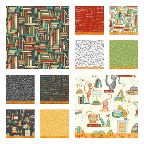 Purrfect Day Fat Quarter Bundle of 12