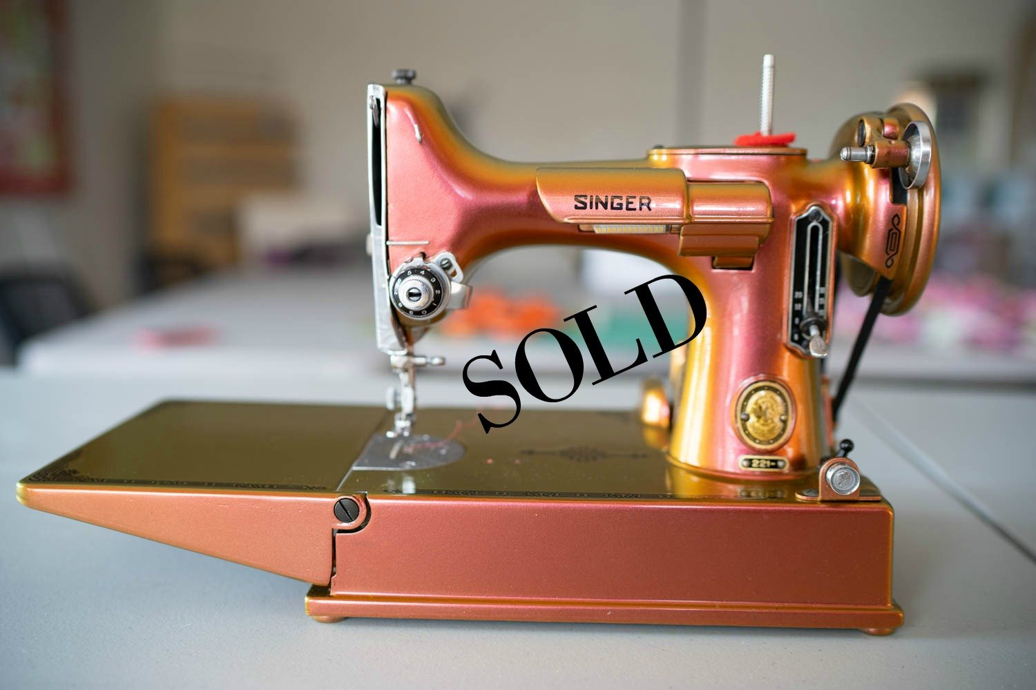 Color Changing Prism Singer Featherweight Machine