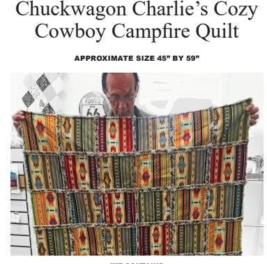 Chuckwagon Charlie's Cozy Cowboy Campfire Quilt Pattern