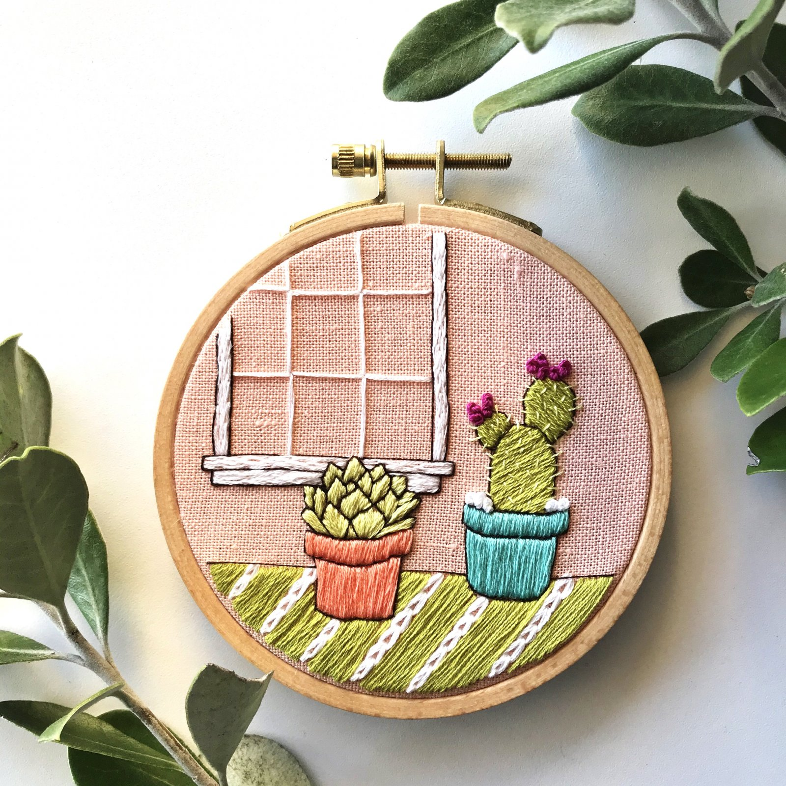 DIY Cactus Embroidery Kit