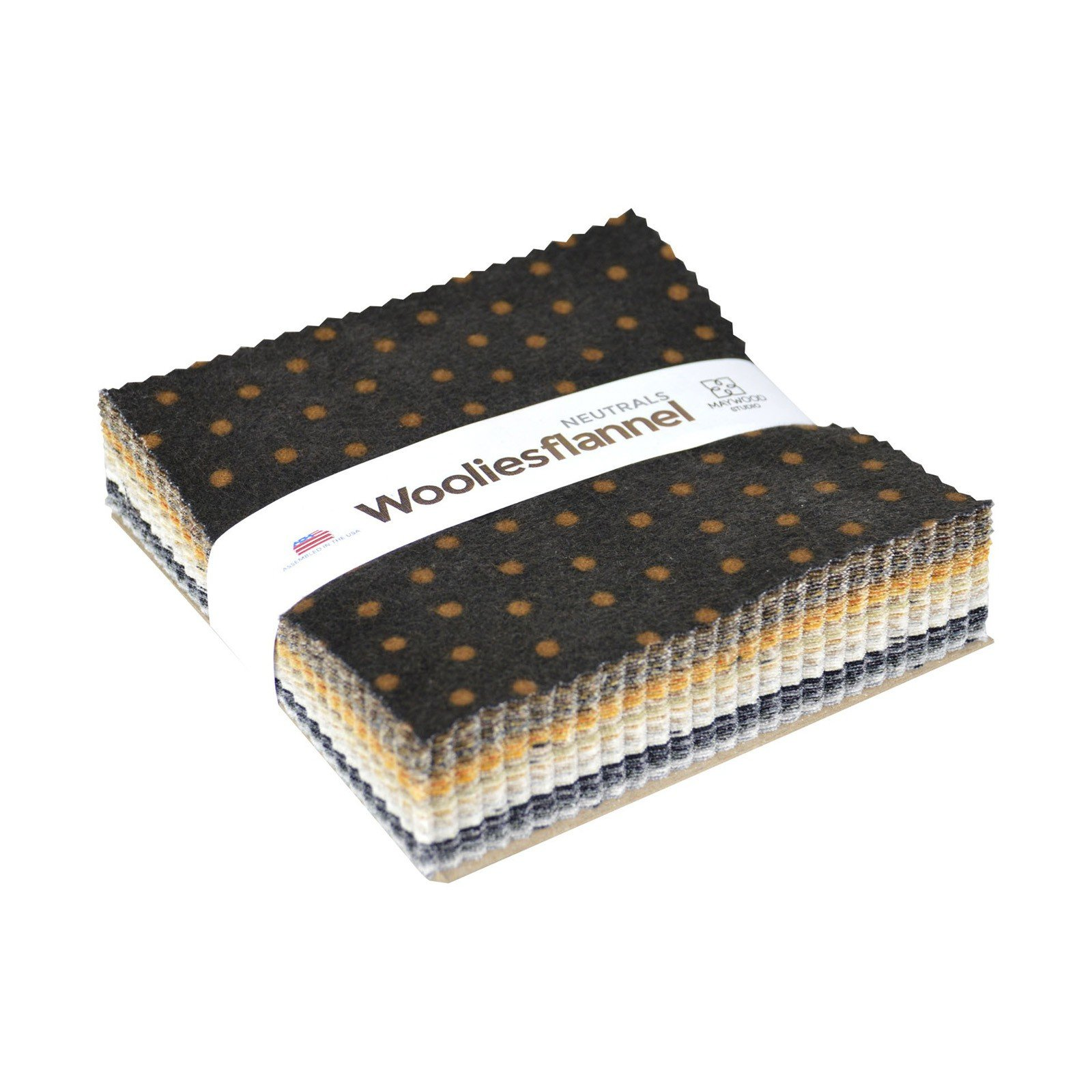 Color Wash Woolie Flannel Charm Pack Neutrals