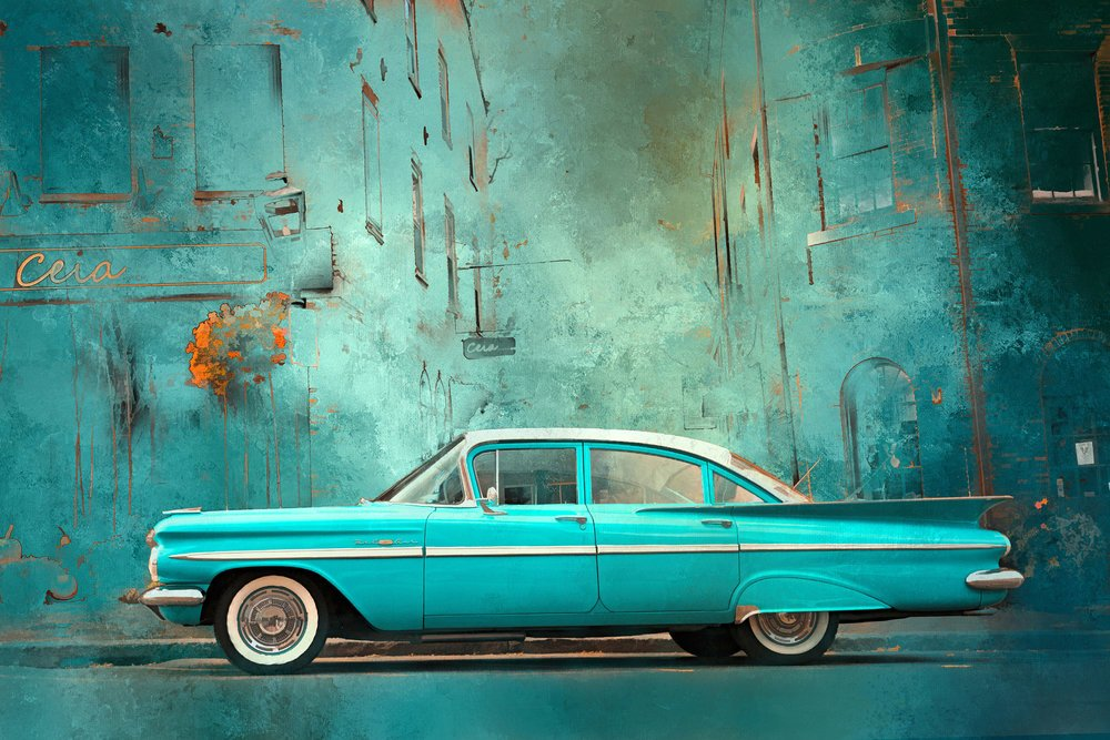 Cruisin' Turquoise Chevy Digital Panel