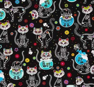 Day of the Dead Cats Flannel