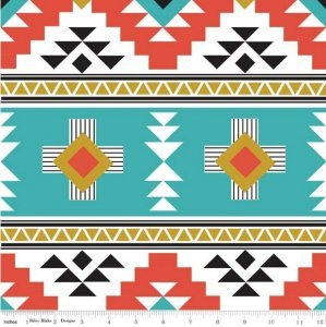 Four Corners Teal Home Dec Canvas