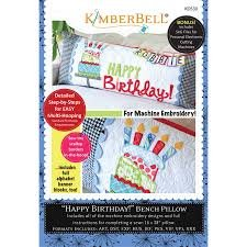Kimberbell Happy Birthday Bench Pillow Machine Embroidery CD
