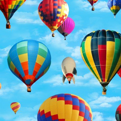 In Motion Hot Air Balloon Fabric