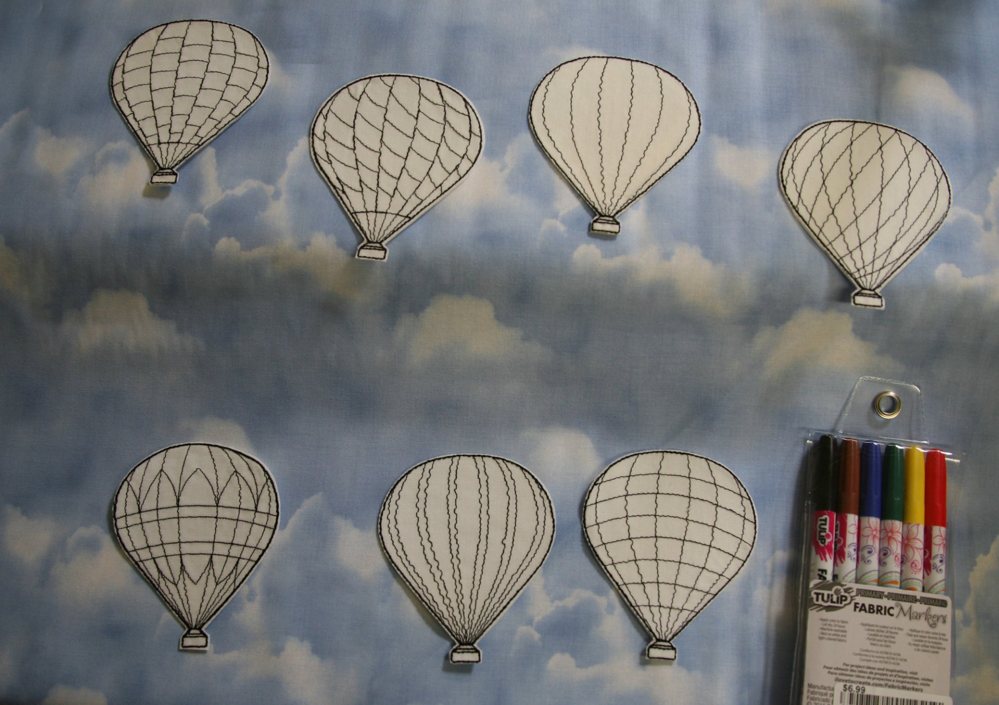 Hot Air Balloon Coloring Patches - 7