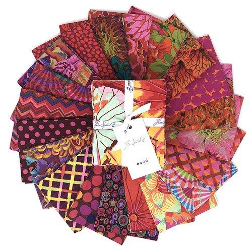 Exploding Hearts pattern & Kaffe FQ bundle
