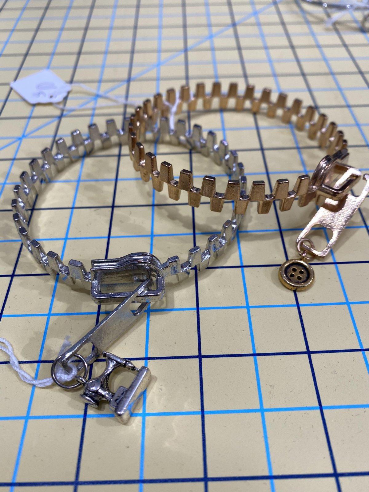 Solid Metal Zipper Bracelet