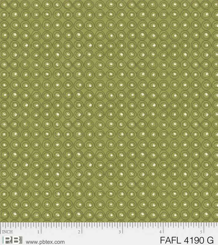 Farah Flowers Green Dots