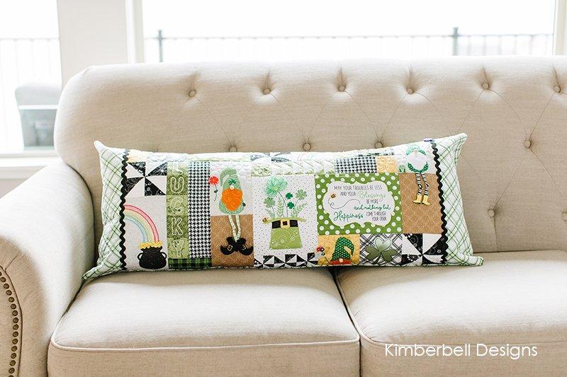 Kimberbell Luck O the Gnome Bench Pillow Kit