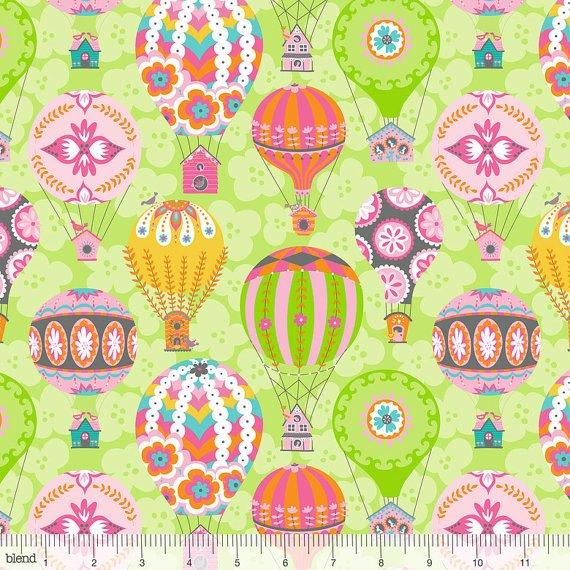 Flutter & Float Green Hot Air Balloons
