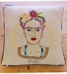 Frida Kahlo Embroidered Pillow Kit
