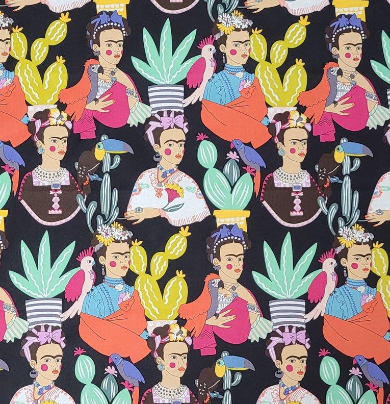 Frida con Las Plumas Black