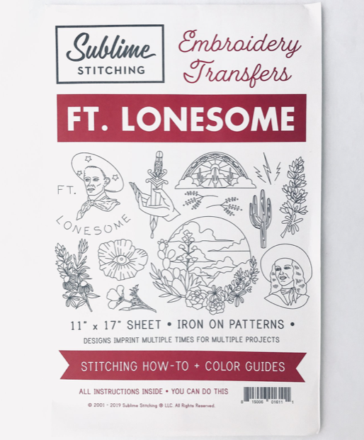 Sublime Stitching Ft. Lonesome Big Sheet Embroidery Transfer Patterns