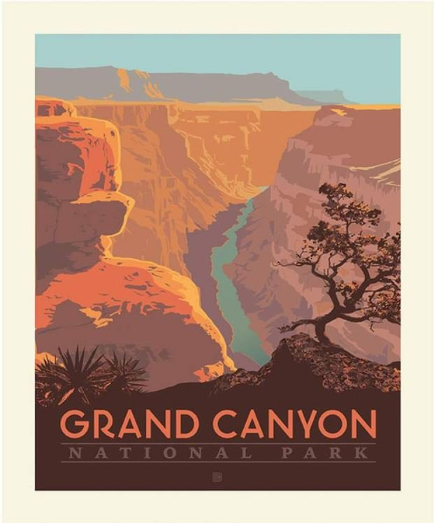 National Parks Grand Canyon Poster Panel