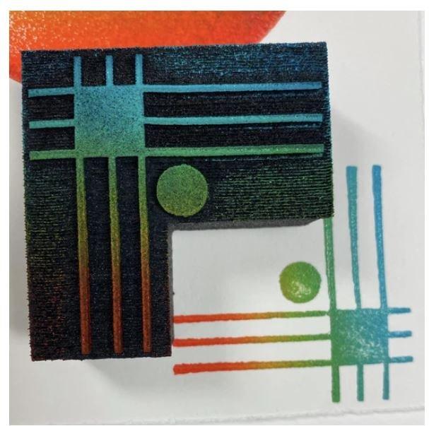 Grid Dot Foam  Stamp